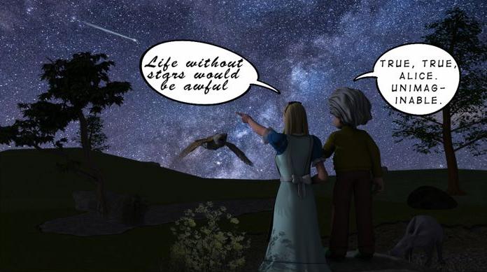 Alice & Grandpa gaze at stars.jpg